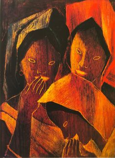 🎨'Laughter' 1950 oil on wood cm X cm 🔸Anita Magsaysay-Ho (b. Laughter, Oil, Painting, Collection, Painting Art, Paintings, Painted Canvas, Drawings, Butter