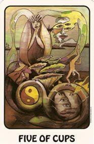Example card from The Karma Tarot deck. DISCOVER MORE: http://www.tarotacademy.org/karma-tarot/