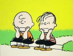 charlie brown & linus painting