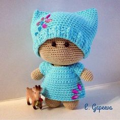 In this article we will share the amigurumi doll free crochet pattern. Amigurumi related to everything you can not find and – BuzzTMZ Crochet Baby Toys, Crochet Amigurumi, Amigurumi Toys, Baby Blanket Crochet, Crochet For Kids, Crochet Dolls, Baby Knitting, Crochet Hats, Knitted Dolls