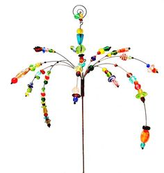 Jewelry Garden Stake.  Too cool, I think I'll make one instead of buying.