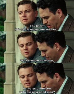 "nicolecb:blueeyedride:tourist-trap:greenequalslife:filmlovers:Shutter Island, 2010 by moonundertheocean  "" "" "" "" ""  "" """