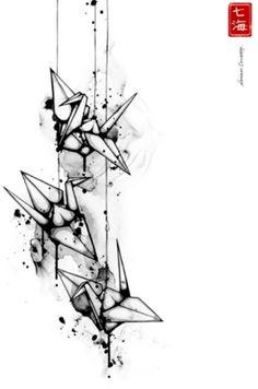 [Origami Crane Illustration of Nanami Cowdroy]