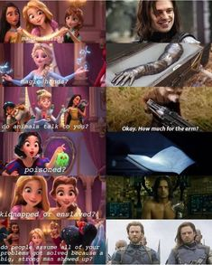 So bucky is a Disney Princess? Princess bucky of 'MURICA Avengers Humor, Marvel Avengers, Marvel Jokes, Funny Marvel Memes, Dc Memes, Marvel Dc Comics, Marvel Heroes, Funny Memes, Disney Memes