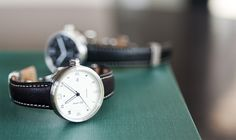 Xetum men's watch: Stinson, white dial, brown leather strap
