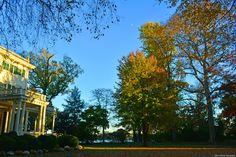 November 2016; Waxing gibbous over the Delaware River and Glen Foerd Estate.