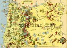 1930's Map of Oregon State~