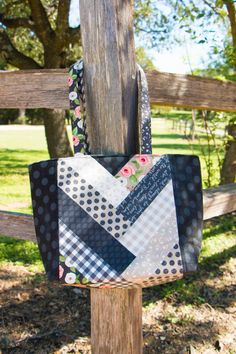 One way to use Farmer's Daughter to make the Jolly Braid Tote Bag