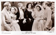 https://flic.kr/p/Rvg62h | Leslie Howard, Olivia De Havilland and Vivien Leigh in Gone with the wind (1939) | British postcard in the Picturegoer Series, London, no. W. 345. Photo: David O'Selznick Production / Metro-Goldwyn-Mayer. Publicity still for Gone with the Wind  (Victor Fleming, 1939). Caption: Bridal scene from Gone with the Wind.  English stage and film actor, director, and producer Leslie Howard (1893-1943) is best-known for his role as Ashley Wilkes in Gone with the Wind…