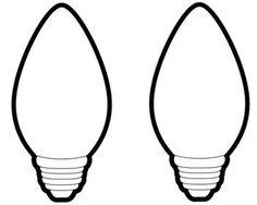Printable Christmas Light Bulb Template from