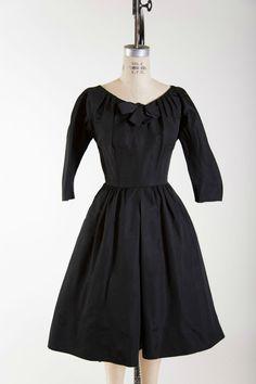 Endless Elegance Cocktail Dress 1950s vintage classic black dress