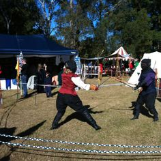 Medieval fighting at Winterfest 2012.
