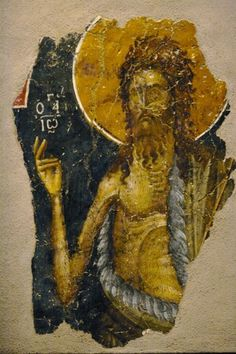 Byzantine Icons, Byzantine Art, Fresco, Best Icons, John The Baptist, True Art, Orthodox Icons, Renaissance Art, Religious Art