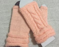 Items similar to Fingerless Gloves...Arm Warmers...Loom Knitting Angel Hair from Masquerade Mercantile in Bright Rainbow on Etsy