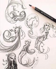 Free for personal use Mermaid Cartoon Drawing of your choice Mermaid Sketch, Mermaid Drawings, Mermaid Art, Mermaid Pose, Cartoon Drawings, Cute Drawings, Drawing Sketches, Mermaid Cartoon, Illustration Art