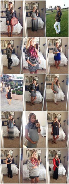 Capsule Wardrobe in Action #maternityfashion #babybump