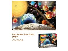 "You'll need LOTS OF ""SPACE"""" to assemble this beautifully illustrated 48-piece puzzle of our solar system :)"