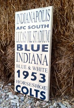Football Decor Indianapolis Colts Football Sign by CharmingWillows, $50.00