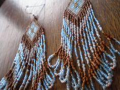 """the """" desert winter """" beaded native style earrings..."""