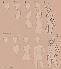 Just random study. Body types are difficult. D8 I tried to find a good, cartoonish way to draw different body types - anatomy wasn't so important. I think I still have long way to go x,D The first ...