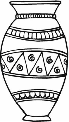 Coloring Ceramic Coloring For Children Vase Pottery P on Greek Ancient Vase Coloring Page Free Printable Pages Vase Pottery Coloring Page Flower Coloring Pages, Colouring Pages, Free Coloring, Afro, Painted Clay Pots, Black Love Art, Printable Adult Coloring Pages, Africa Art, Templates Printable Free