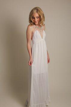 Beatrice Halter White Maxi Dress $55