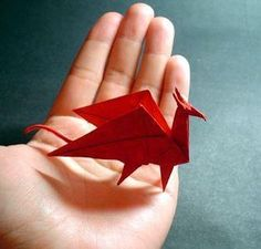 Dragon Origami - make a whole Dragon Army; Fun and Easy. Here are a number of tutorials to get you started... Tutorial for folding instructions http://www.origami-instructions.com/origami-dragon.html How to make origami dragon You can learn to make various kinds of origami dragon here. http://www.origami-make.com/howto-origami-dragon.php