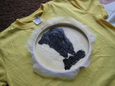Screen printing with a sheer curtain, Mod Podge & ink (or paint)