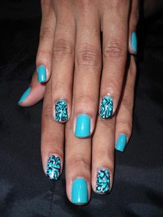 Baby Blue nail art!!! #funky #nails  https://www.facebook.com/dazzlemedeals