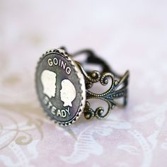 going steady ring - cute