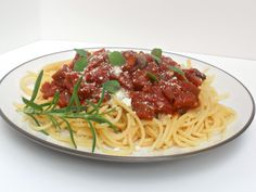 Eggplant Bolognese: Make sure to skip the low fat milk for plant strong... Love eggplant for sauces