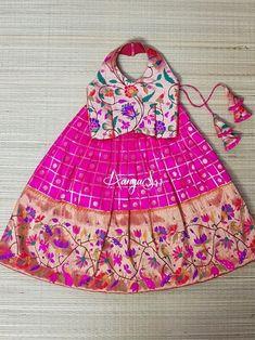 Baby Girl Dresses Diy, Baby Girl Birthday Dress, Girls Dresses, Kids Saree, Kids Lehenga, Toddler Outfits, Kids Outfits, Baby Lehenga, Kids Ethnic Wear