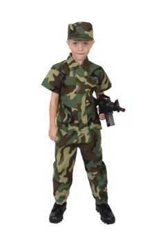 Child Camouflage Soldier Costume
