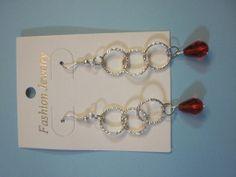 orecchini a pendente con perline e catena rosse, by L'uncinetto tutto matto, 3,50 € su misshobby.com