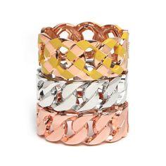 BaubleBar Soleil Stripe Cuffs ($162) ❤ liked on Polyvore