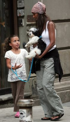 david+bowie+and+iman+daughter+alexandria | Iman and daughter Alexandria walk dog in NYC – Moms & Babies ...