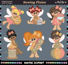 Sewing Pixies Fairies Fairy Pixie Village Instant