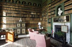 The Study at Belton House. Its library is among the finest in any National Trust house, demonstrating the reading habits of one family over a period of more than 350 years
