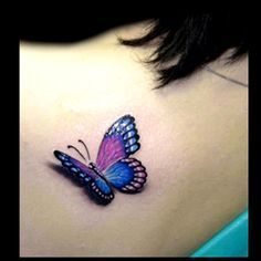 3d butterfly tattoo.     For more great pins go to @KaseyBelleFox