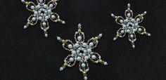 Pandahall návod, jak si vyrobit Pearl korálků Snowflake Ornament