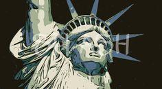 SP334-Cuadro de la Estatua de la Libertad-New York