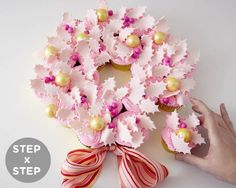 cupcake christmas wreath recipe how to