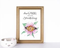 Animal, Frame, Etsy, Decor, Paper, Butterfly Watercolor, Illustrations_posters, Picture Frame, Wall Prints