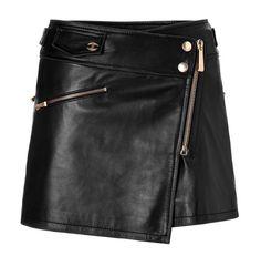 just cavalli leather mini skirt