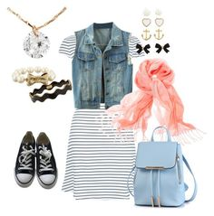 The Haunted Carousel 1.1 {Nancy Drew} by sarah-natalie on Polyvore featuring polyvore, fashion, style, New Look, WithChic, Converse, H&M, Kate Spade, Chico's and clothing