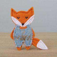 Fab! fox brooch by fibrespace | notonthehighstreet.com