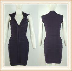 black bodycon v neck woman bandage dress DM184 E-mail:fashondress@gmail.com Tel:86-189 3399 5760
