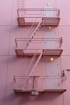 Stairway to a lot of pink.