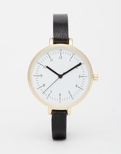 Bild 1 von ASOS – Armbanduhr mit großem Zifferblatt und schmalem Gehäuse