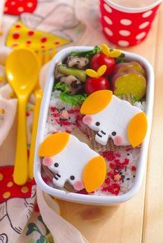Another cute elephant bento idea       #bento #lunchbox